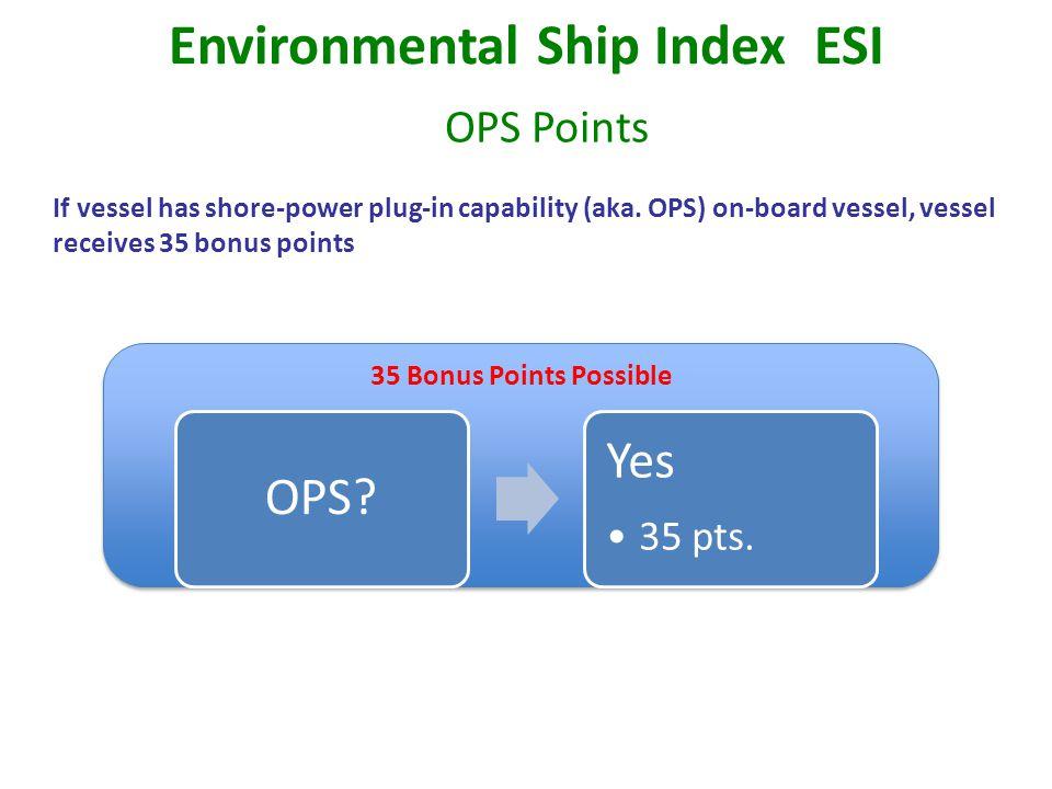 If vessel has shore-power plug-in capability (aka.
