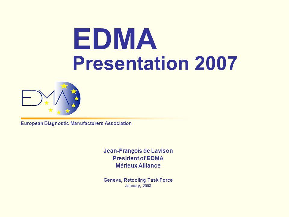2 Geneva, January 2008 European Healthcare Market in 2007 In Vitro Diagnostics 3.5% Radiological, Electro-medical & Healthcare IT 3.5% Medical Devices 25% Pharmaceuticals 68%