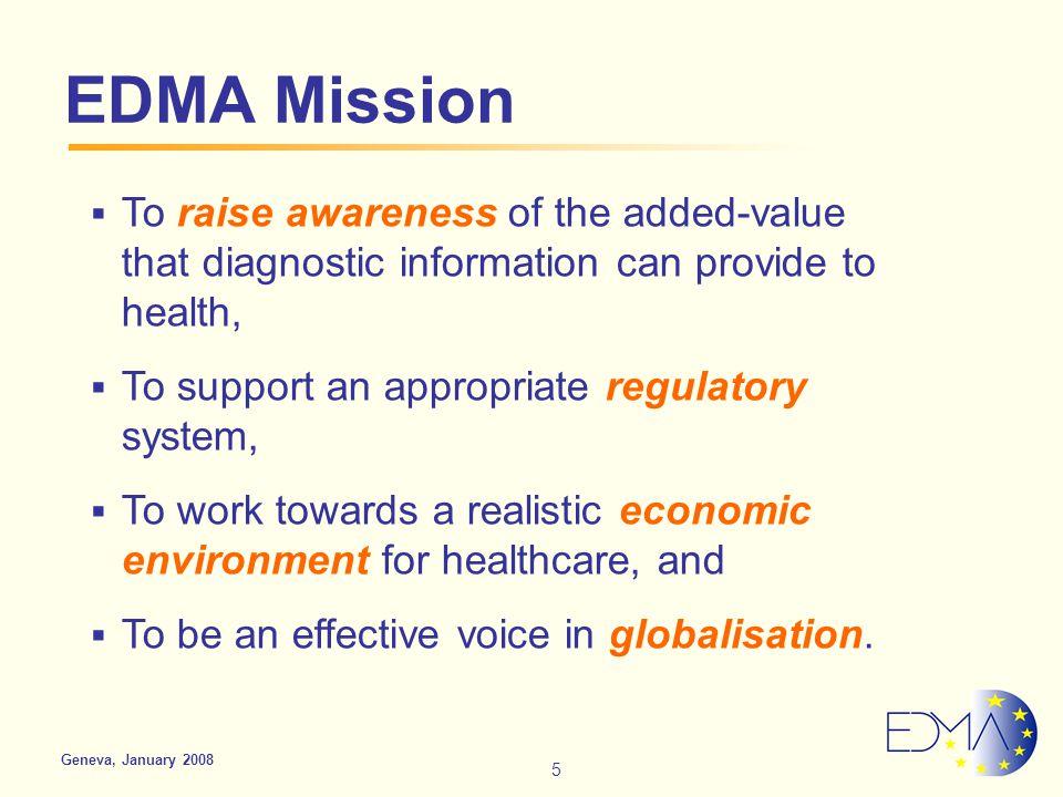 Advocating the value of IVDs European Diagnostic Manufacturers Association