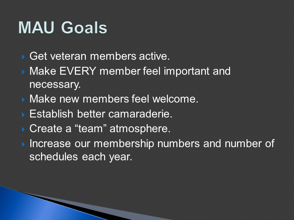  Get veteran members active.  Make EVERY member feel important and necessary.