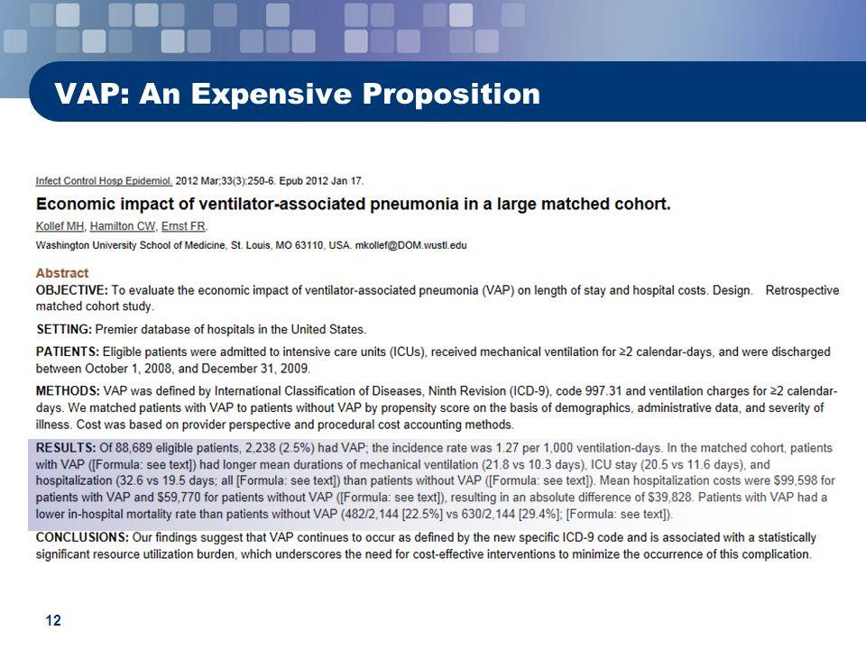 12 VAP: An Expensive Proposition