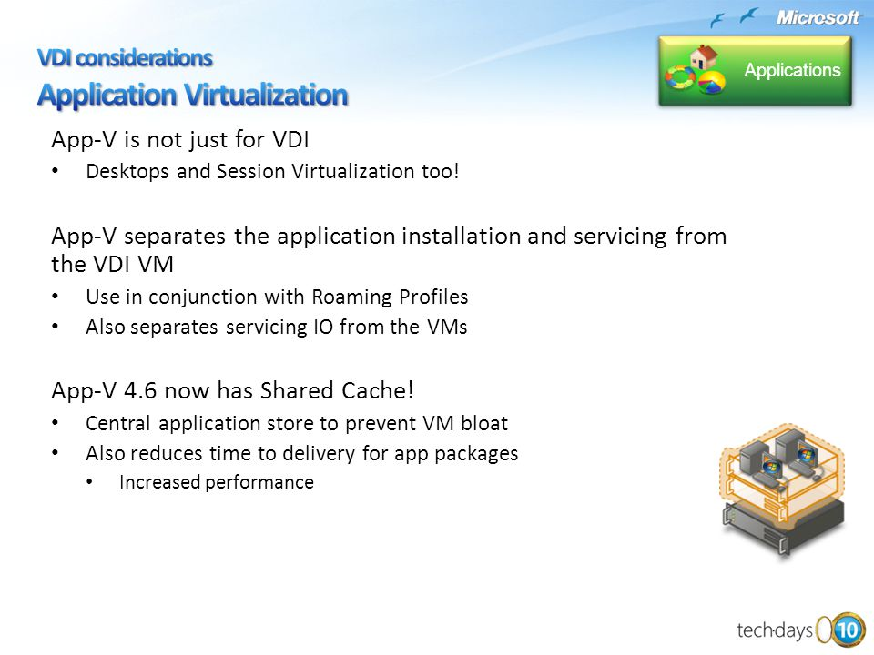 App-V is not just for VDI Desktops and Session Virtualization too.