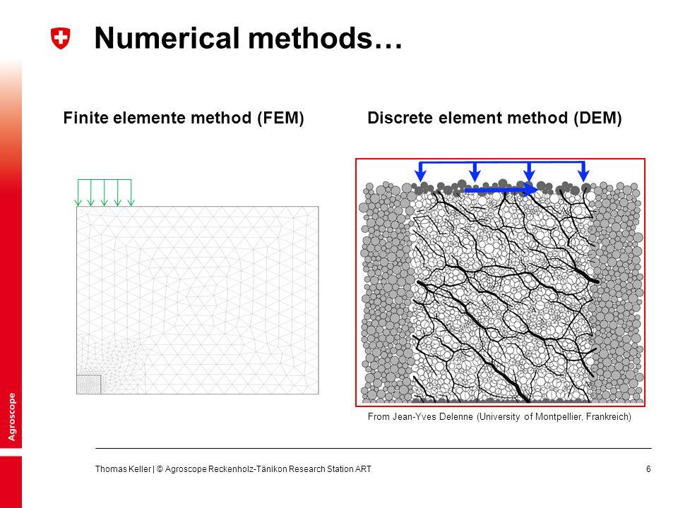 27 1.Model approach 2.Estimation of model parameters Thomas Keller | © Agroscope Reckenholz-Tänikon Research Station ART