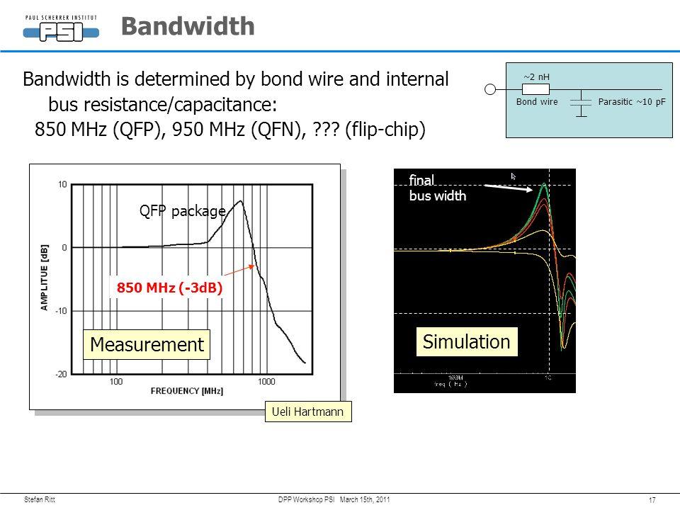 Stefan Ritt 16 March 15th, 2011DPP Workshop PSI 12 bit resolution 11.5 bits effective resolution <8 bits effective resolution