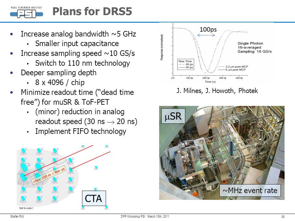 Stefan Ritt 35 March 15th, 2011DPP Workshop PSI DRS5 Chip Ideas