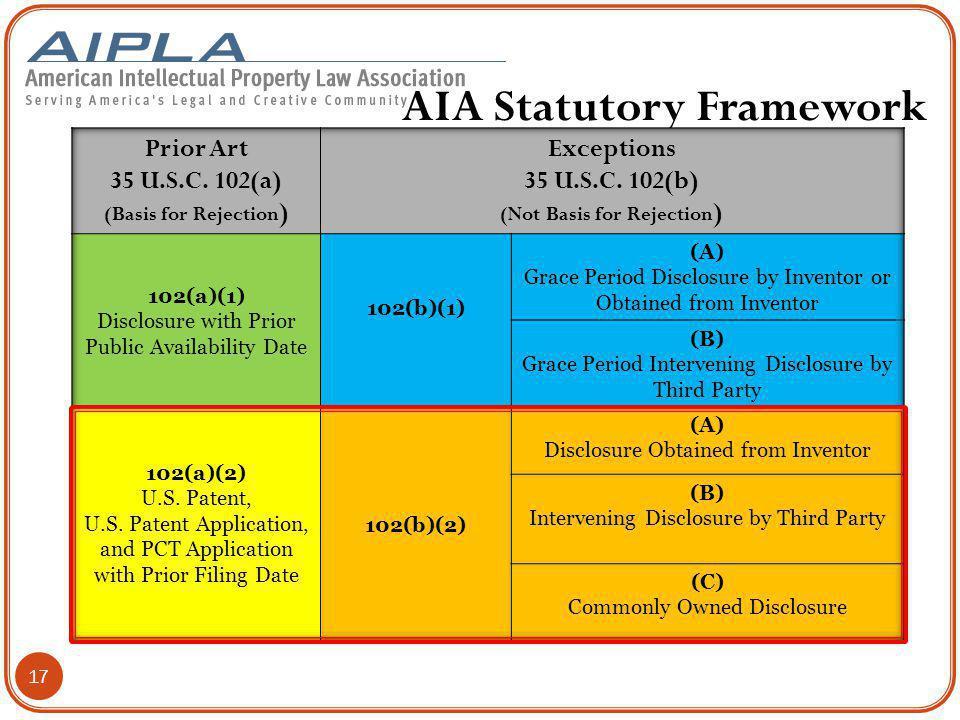 AIA Statutory Framework 17