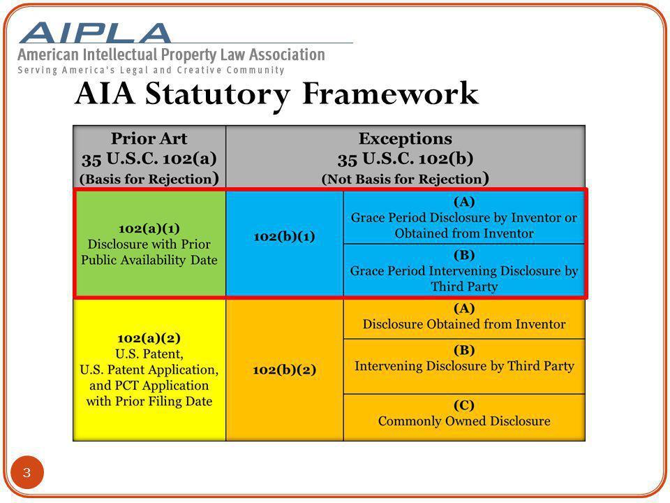 AIA Statutory Framework 3