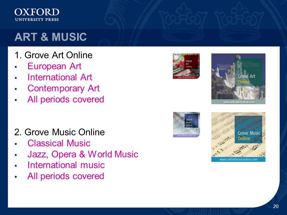 20 ART & MUSIC 1.