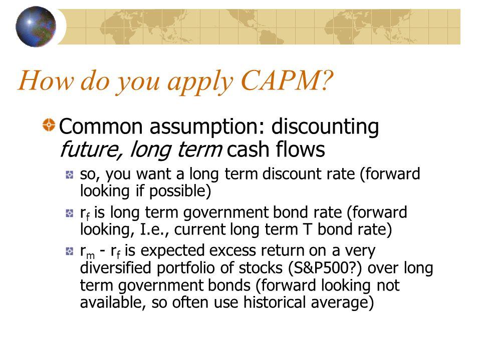 How do you apply CAPM.