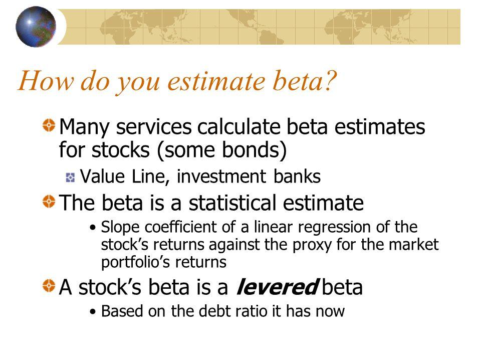 How do you estimate beta.