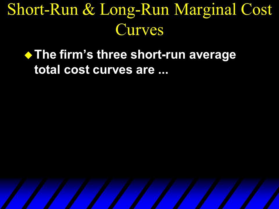 Short-Run & Long-Run Marginal Cost Curves u The firm's three short-run average total cost curves are...
