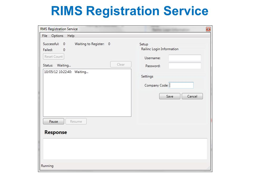 RIMS Registration Service