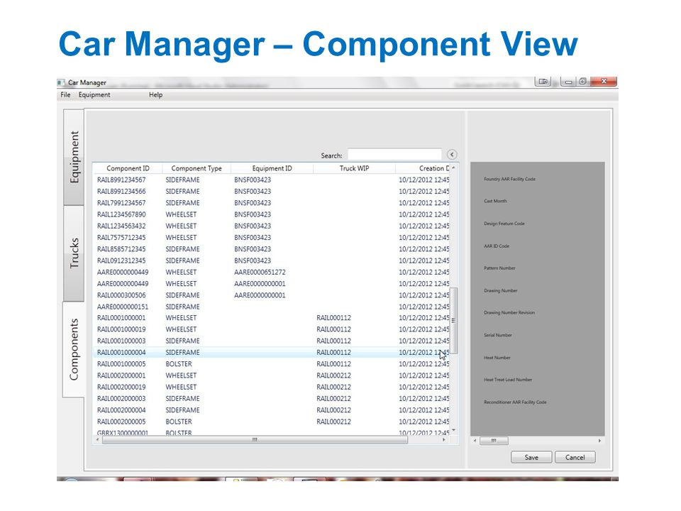 Car Manager – Component View