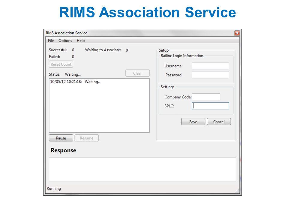 RIMS Association Service