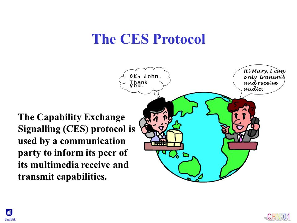 Outline The CES protocol Modelling and analysis results of The CES protocol with a reliable transport medium The CES protocol with an unreliable transport medium Conclusion and future work UniSA