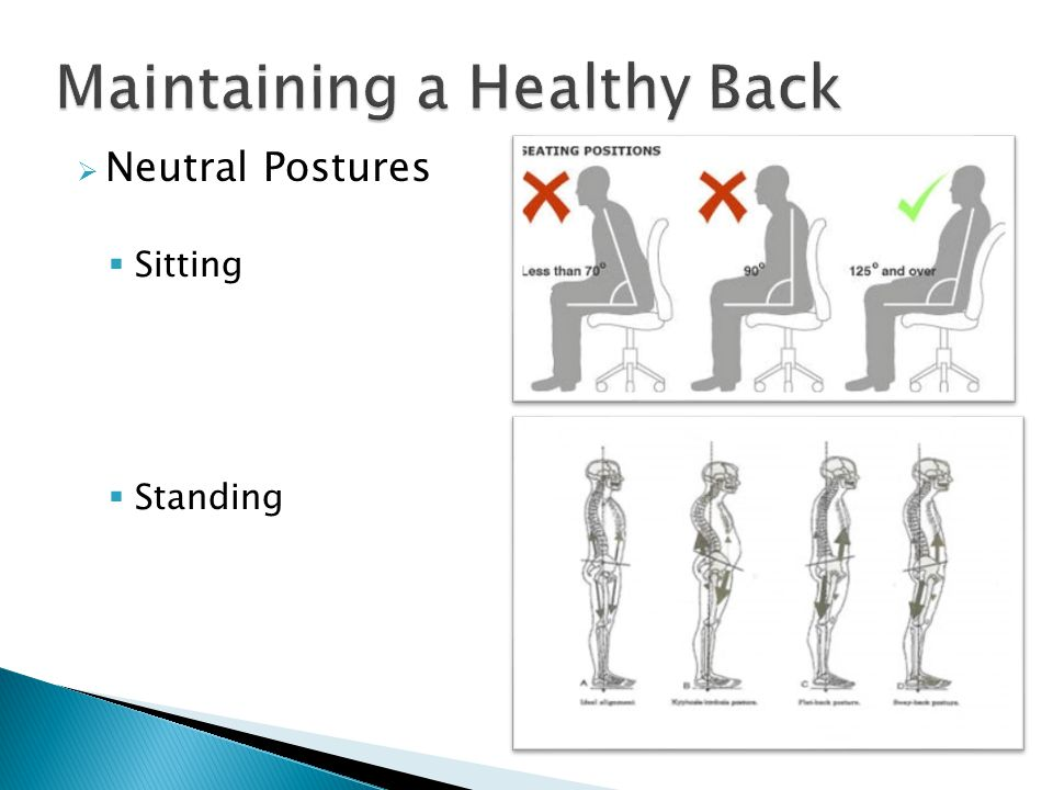  Neutral Postures  Sitting  Standing