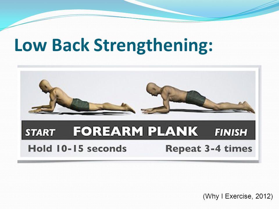 Low Back Strengthening: (Why I Exercise, 2012)