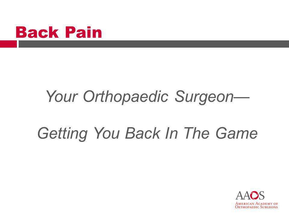 30 Primary Care Physicians Orthopaedic Surgeons Spine Surgeons Seeking Help