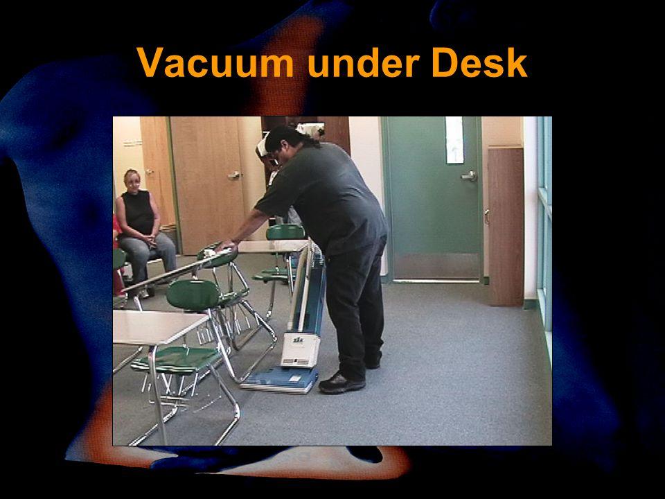 Vacuum under Desk