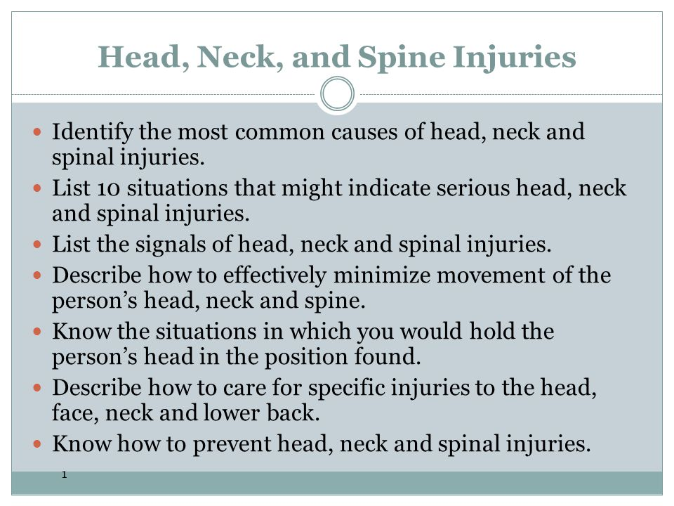 2 Introduction Each year, nearly 2 million Americans suffer a head, neck or spinal injury serious enough to require medical care.