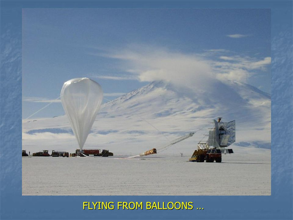 FLYING FROM BALLOONS …