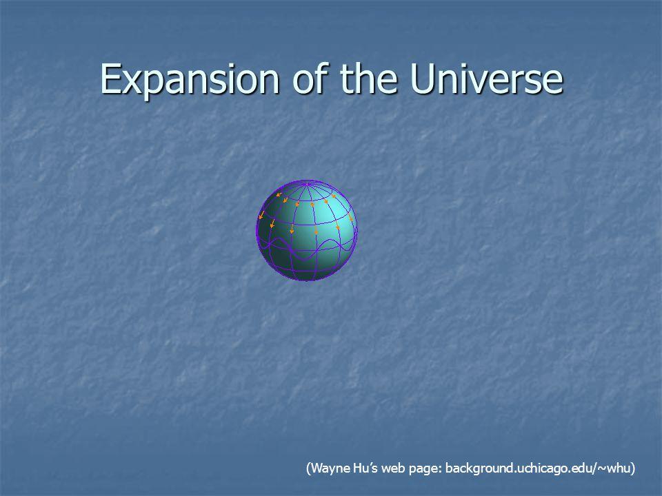 Expansion of the Universe (Wayne Hu's web page: background.uchicago.edu/~whu)