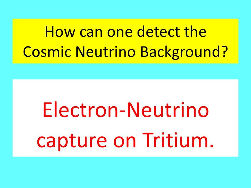 How can one detect the Cosmic Neutrino Background? Electron-Neutrino capture on Tritium.