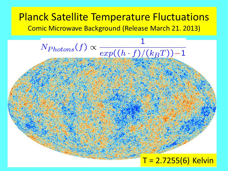 Planck Satellite Temperature Fluctuations Comic Microwave Background (Release March 21. 2013)