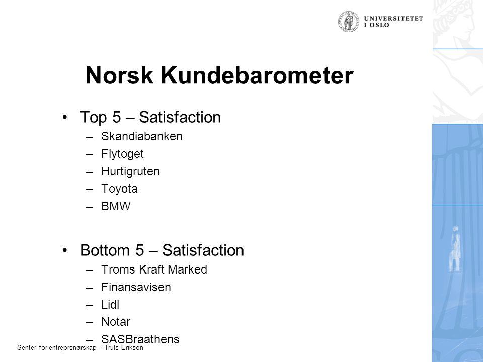 Senter for entreprenørskap – Truls Erikson Brand Knowledge Knowledge Thoughts Experiences Beliefs Images Feelings