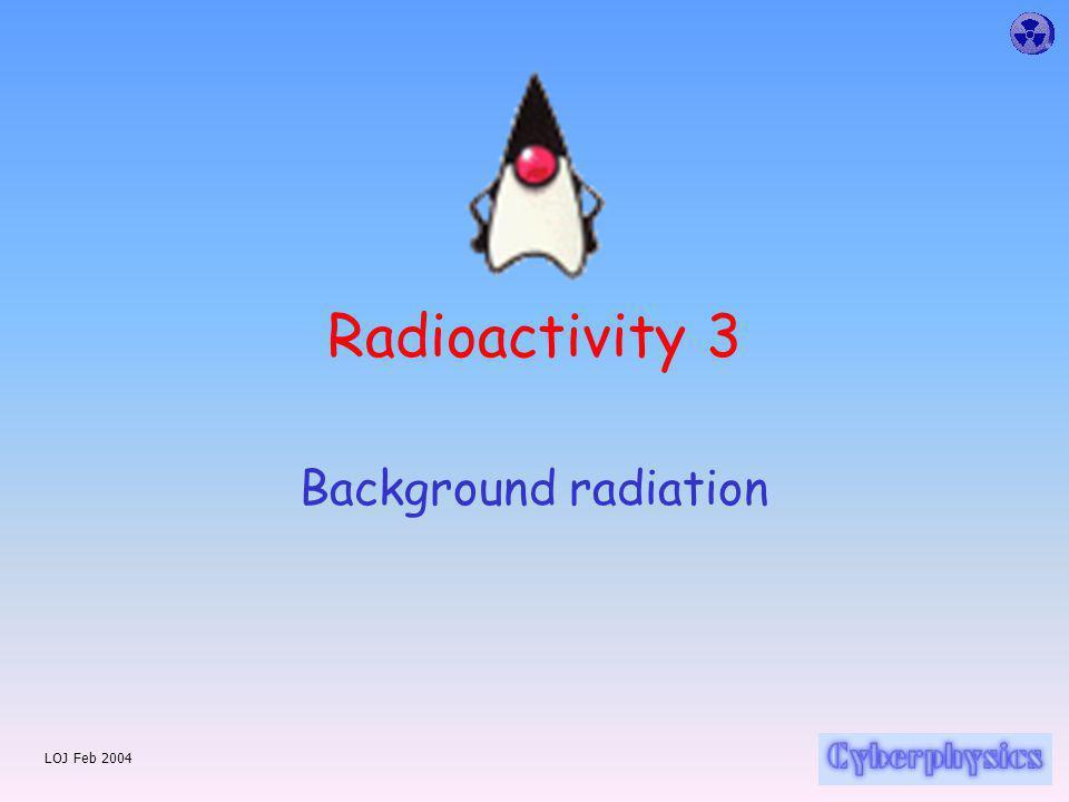 LOJ Feb 2004 Radioactivity 3 Background radiation