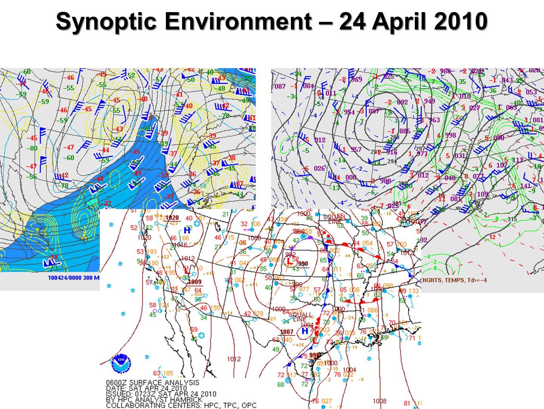 Synoptic Environment – 24 April 2010