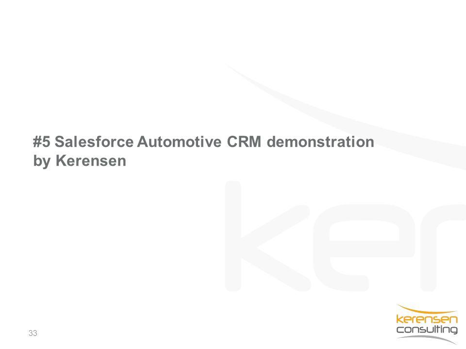 33 #5 Salesforce Automotive CRM demonstration by Kerensen