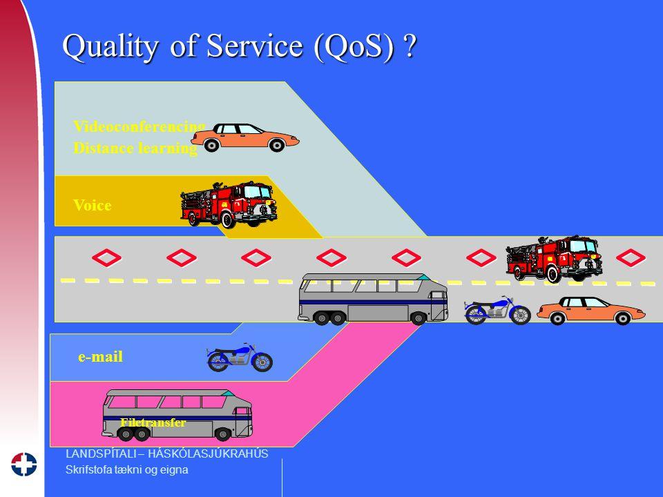 LANDSPÍTALI – HÁSKÓLASJÚKRAHÚS Skrifstofa tækni og eigna Videoconferencing Distance learning Voice e-mail Quality of Service (QoS) .