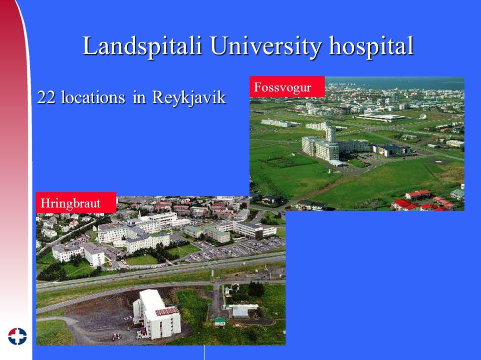 LANDSPÍTALI – HÁSKÓLASJÚKRAHÚS Skrifstofa tækni og eigna Landspitali University hospital Landspitali University hospital Hringbraut Fossvogur 22 locations in Reykjavik