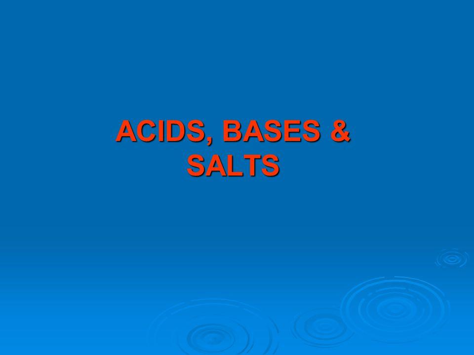 Topic 10: ACIDS, BASES & SALTS Formula Writing of Bases  Formula writing of bases is the same as for any ionic formula writing.