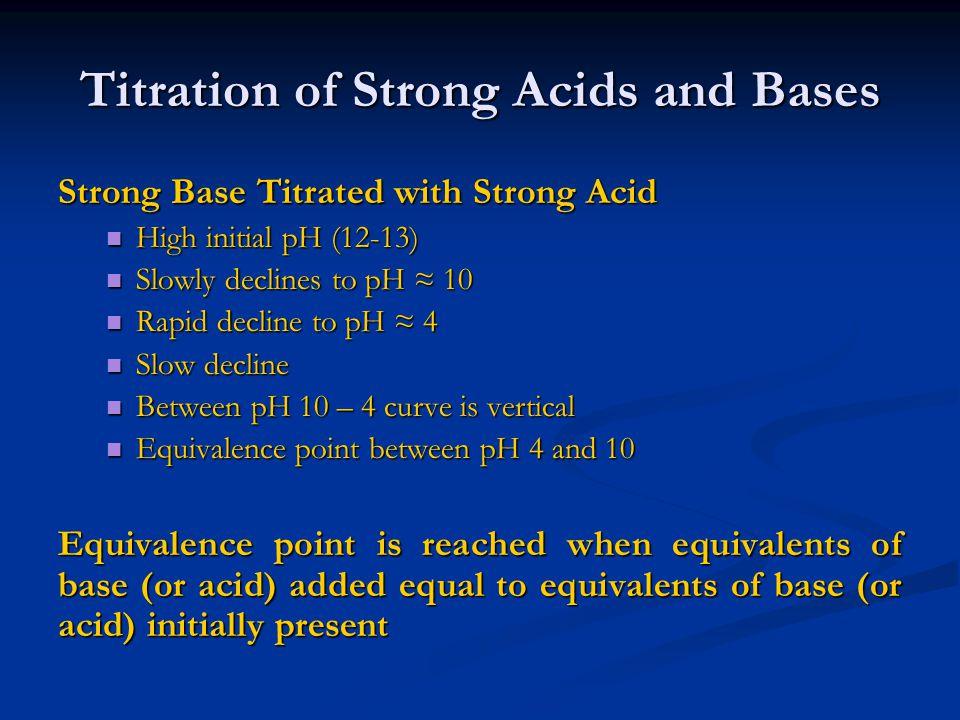 mass balance of strong base cation [B+] = (CV) / (V 0 + V) combining mass balance and equilibrium relationship of weak acid