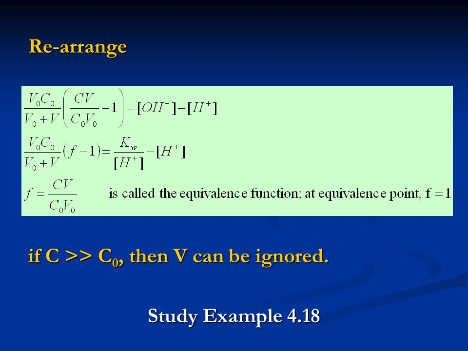 Re-arrange if C >> C 0, then V can be ignored. Study Example 4.18