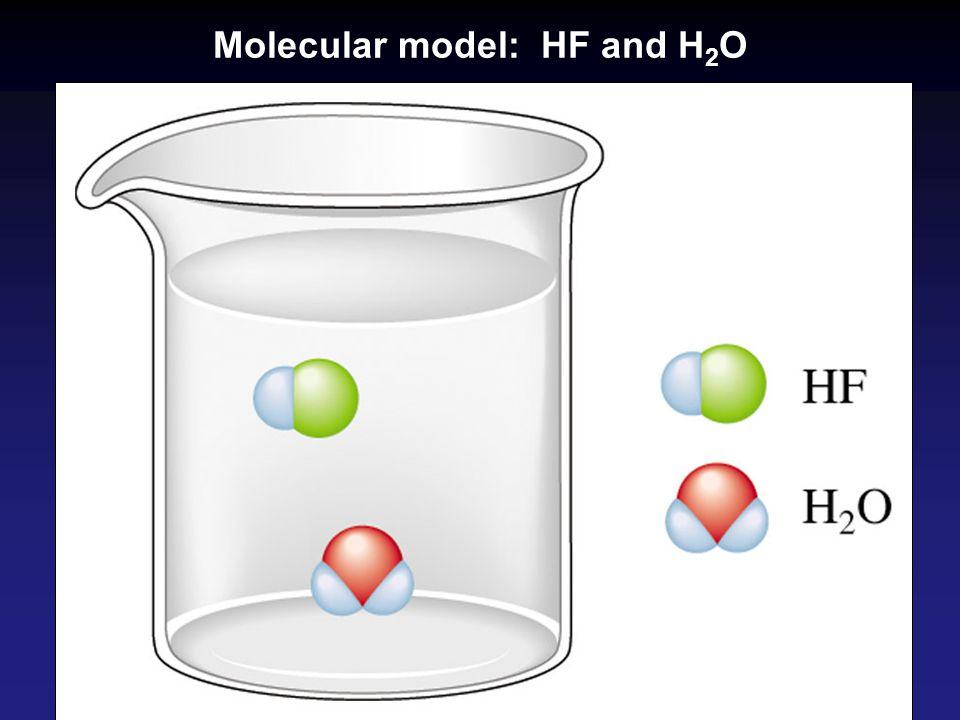 Molecular model: HF and H 2 O