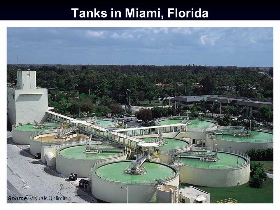 Tanks in Miami, Florida Source: Visuals Unlimited