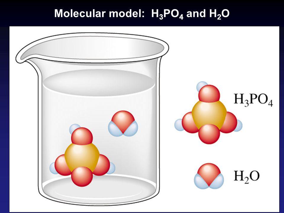 Molecular model: H 3 PO 4 and H 2 O