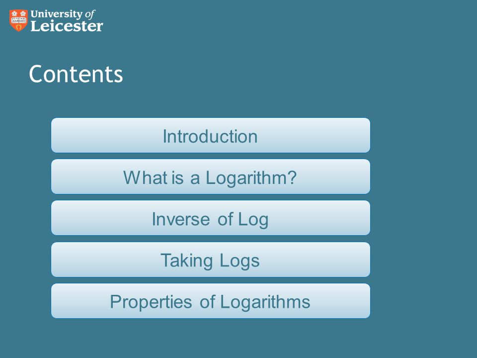 So, we can take logs, but how do we work with them once we've got them.