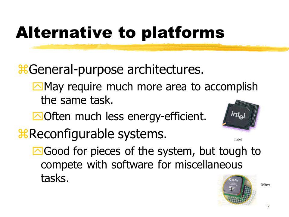28 Summary zTrends encourage platform-based design.