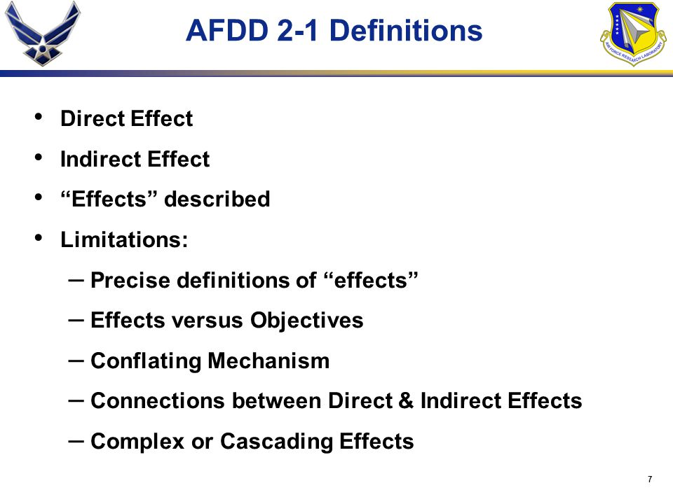 17 Effects-Based Plan Representation Objective Indicator Effect Desired direct effect indirect effect complex effect cumulative effect EBO Terms Task/Activity (Isolate the Battlefield) (Deny Access) (Mechanism)