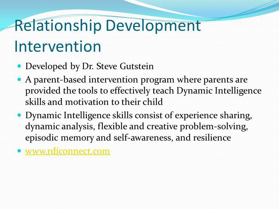 Relationship Development Intervention Developed by Dr.