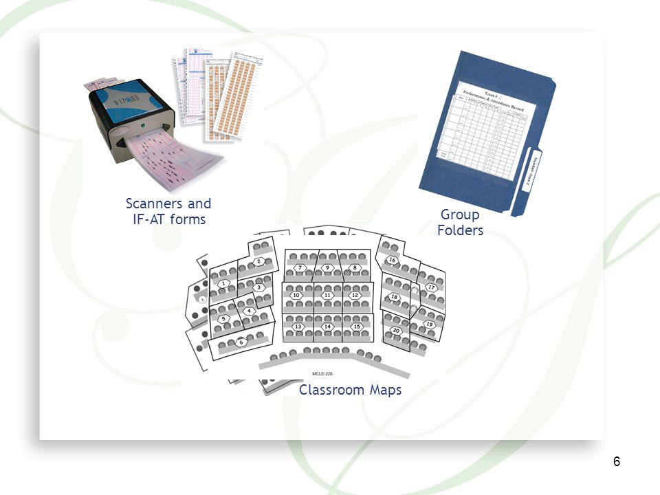 6 Scanners and IF-AT forms Classroom Maps Group Folders