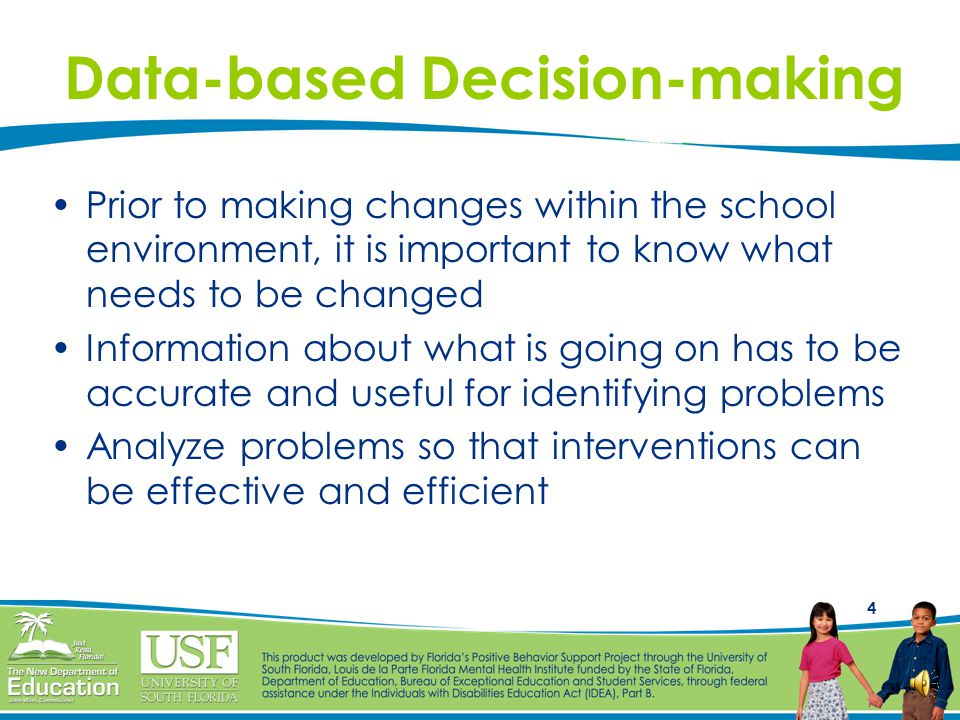 24 Data System Self-check The data are used for decision-making The data are very easy to collect (1% of staff time) The data are accurate and valid The data should be summarized prior to meetings of decision-makers (e.g., weekly) The data are available when decisions need to be made Different data needs are identified for a school building versus a school district