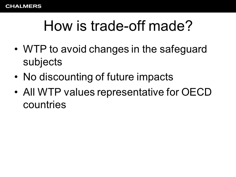 How is trade-off made.