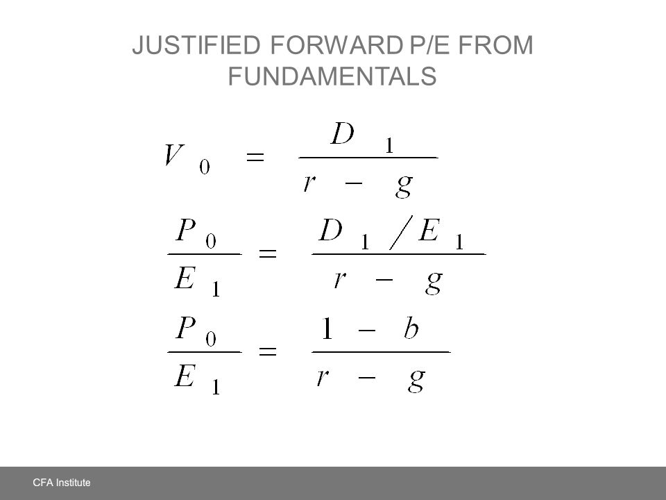 JUSTIFIED FORWARD P/E FROM FUNDAMENTALS