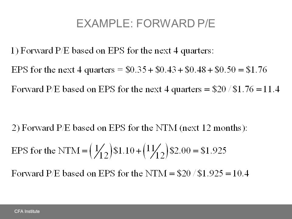 SUMMARY EPS dilution Underlying earnings Normalized earnings Differences in accounting methods Issues in Calculating EPS Industry peers Industry or sector index Broad market index Own historical values Method of Comparables