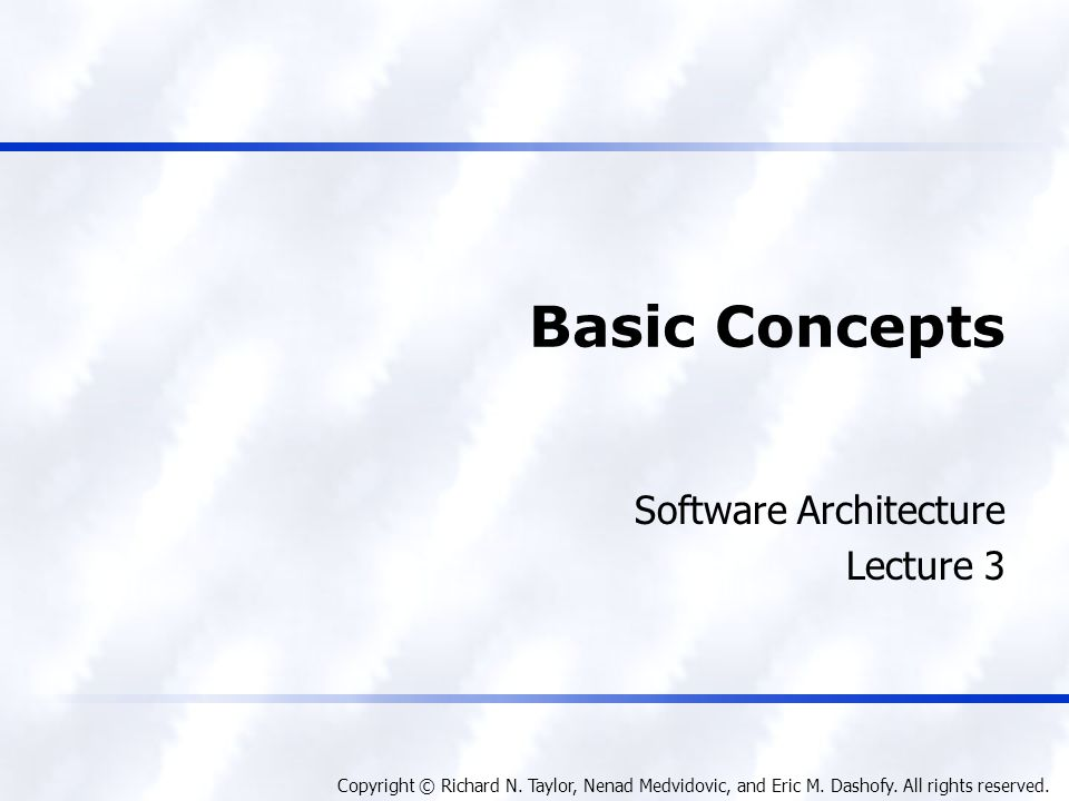 Foundations, Theory, and Practice Software Architecture 12 Architectural Recovery If architectural degradation is allowed to occur, one will be forced to recover the system's architecture sooner or later Architectural recovery is the process of determining a software system's architecture from its implementation- level artifacts Implementation-level artifacts can be u Source code u Executable files u Java.class files
